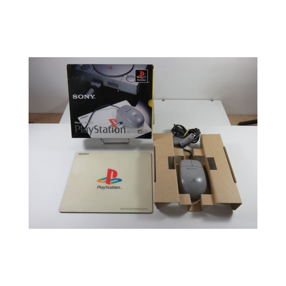 MOUSE - SOURIS (+TAPIS - MOUSE PAD) SCPH-1090E (BOXED)(COMPLET - GOOD CONDITION OVERALL)