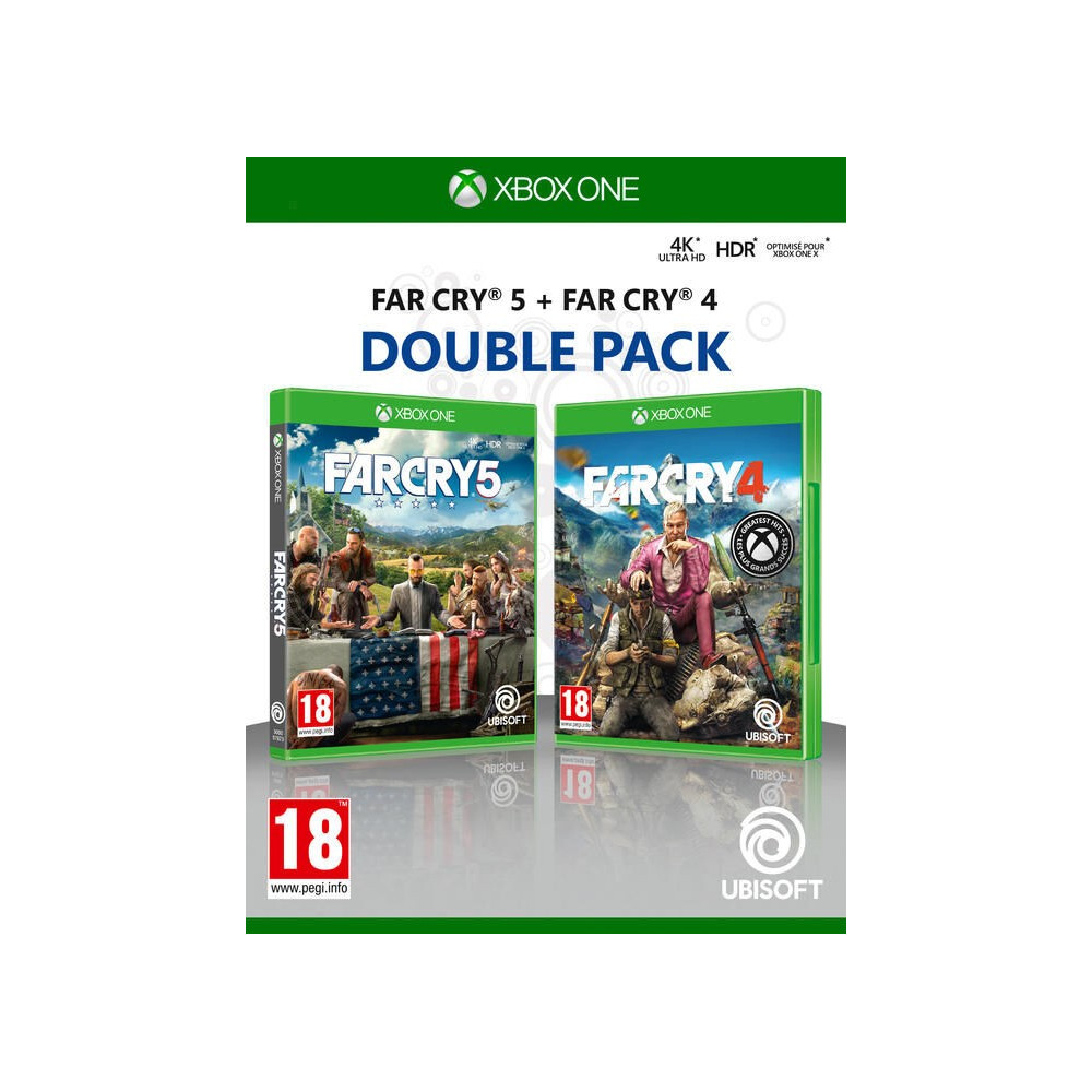 FARCRY 5 + FARCRY 4 DOUBLE PACK XBOX ONE FR OCCASION