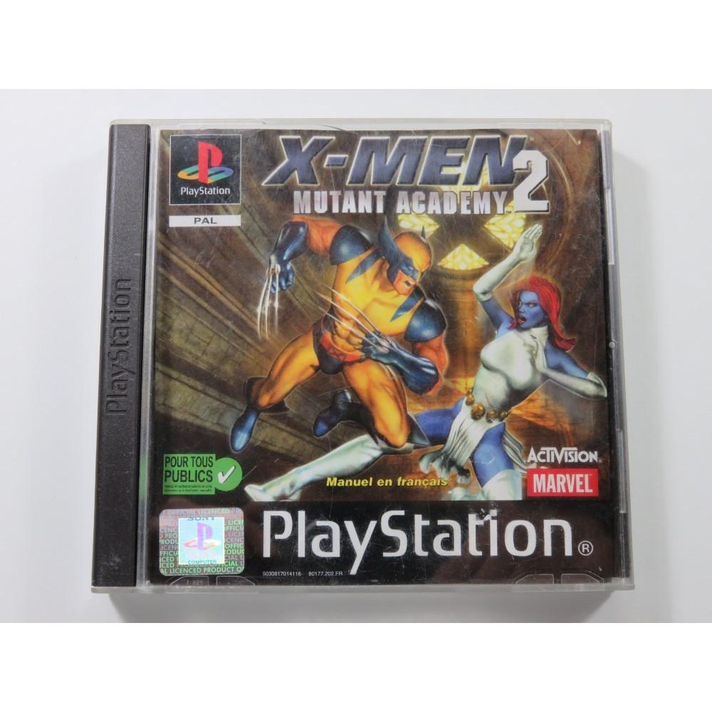 X-MEN 2 MUTANT ACADEMY PLAYSTATION (PS1) PAL-FR (SANS NOTICE - WITHOUT MANUAL)