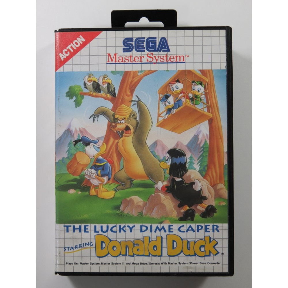 THE LUCKY DIME CAPER STARRING DONALD DUCK MASTER SYSTEM PAL-EURO (COMPLETE - GOOD CONDITION)