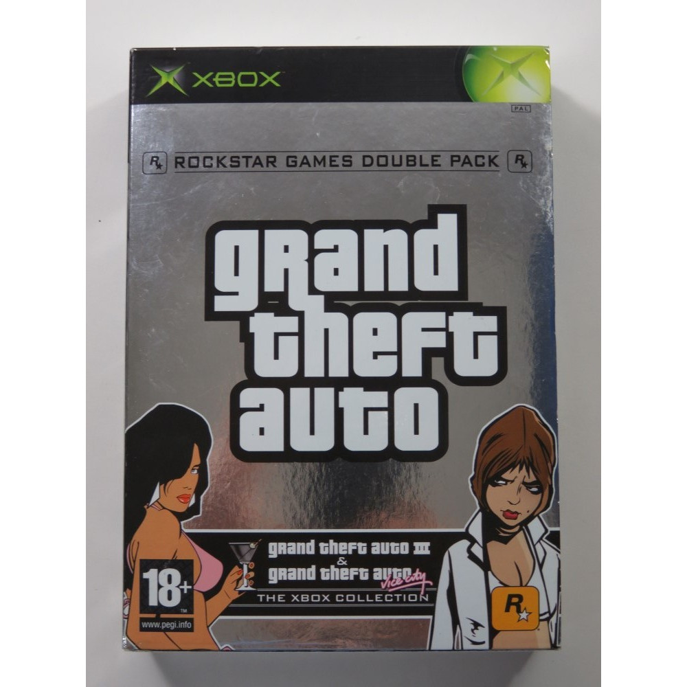 GRAND THEFT AUTO - GTA DOUBLE PACK XBOX PAL-FR OCCASION