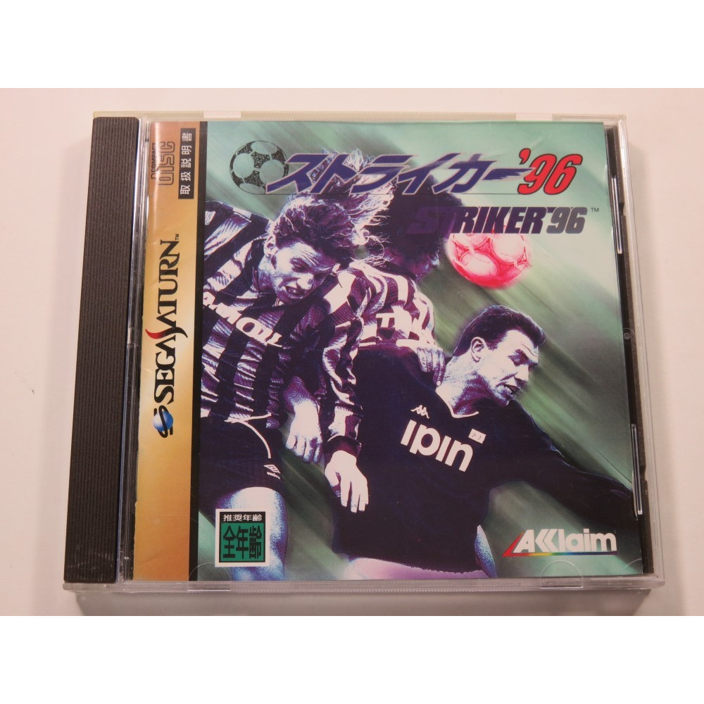 STRIKER 96 SEGA SATURN NTSC-JPN (COMPLETE WITH SPIN CARD - VERY GOOD CONDITION)