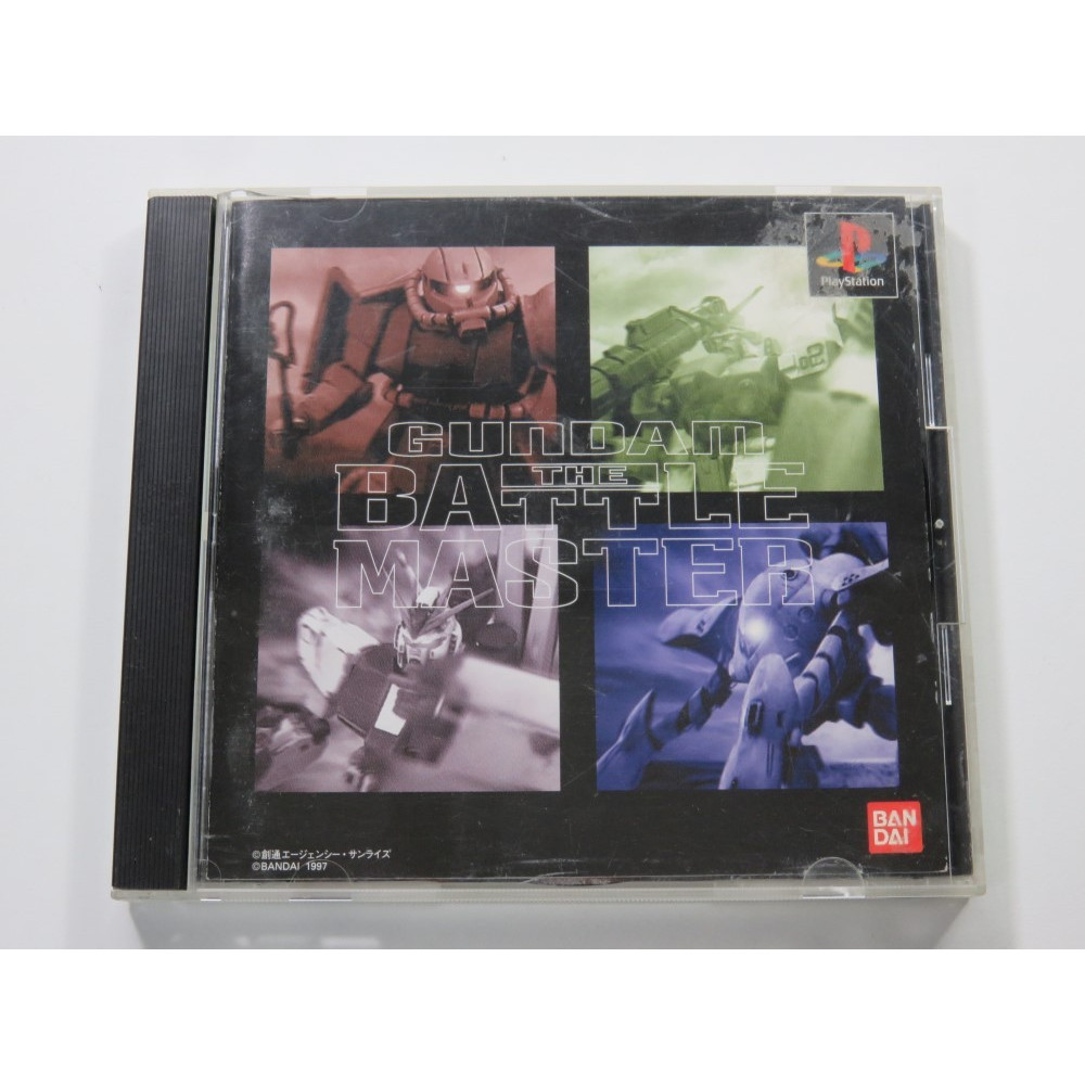 GUNDAM THE BATTLE MASTER PLAYSTATION (PS1) NTSC-JPN (COMPLETE - GOOD CONDITION OVERALL)