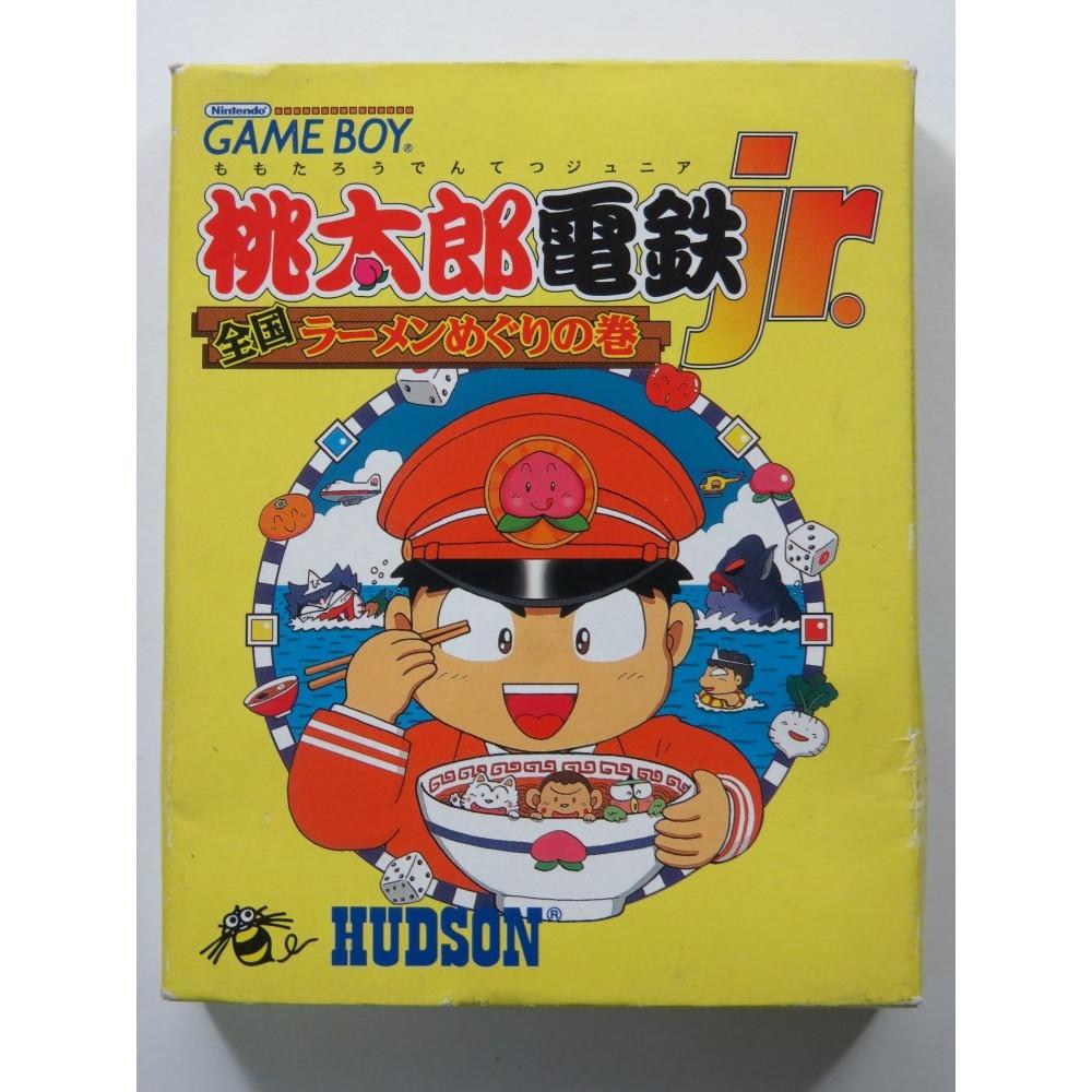 MOMOTAROU DENTETSU JR. ZENKOKU RAMEN MEGURI NO MAKI NINTENDO GAMEBOY (GB ) JAPAN (COMPLETE WITH REG CARD-GOOD CONDITION)