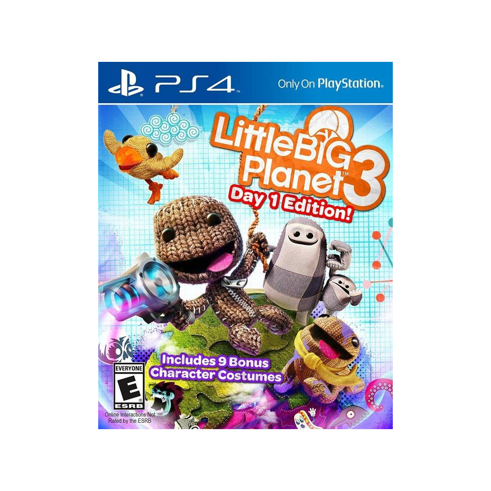LITTLE BIG PLANET 3 DAY 1 EDITION PS4 US OCCASION