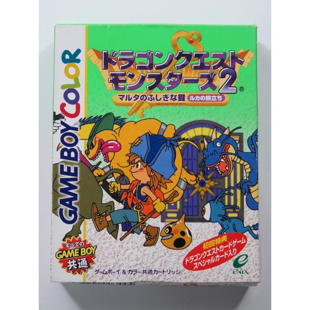 DRAGON QUEST MONSTERS 2 MARTA NO FUSHIGI NA KAGI NINTENDO GAMEBOY COLOR (GBC) JAPAN (COMPLET - GOOD CONDITION)