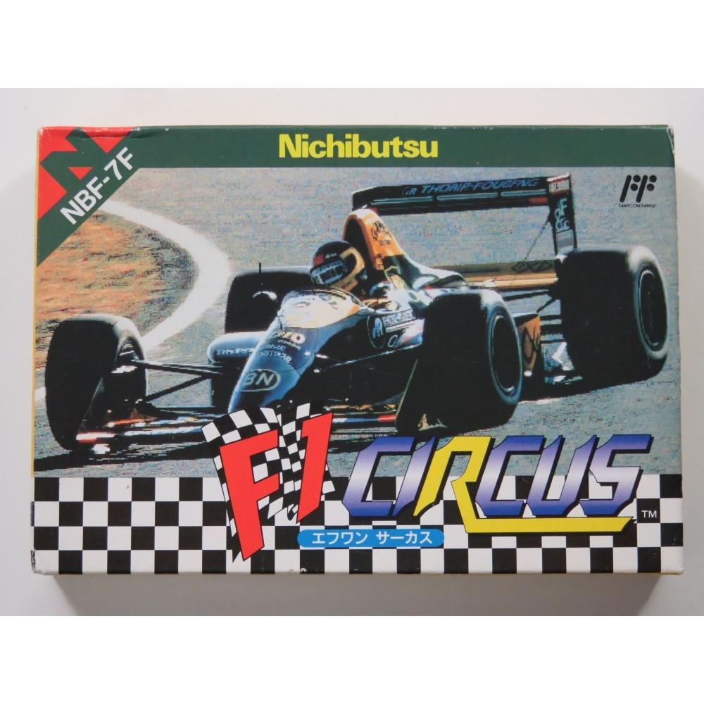F1 CIRCUS NINTENDO FAMICOM (FC) NTSC-JPN (COMPLETE - GOOD CONDITION)