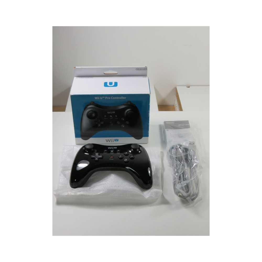 CONTROLLER - MANETTE CLASSIC PRO BLACK NINTENDO WIIU (COMPLET - VERY GOOD CONDITION - BOXED)(WITH CABLE)