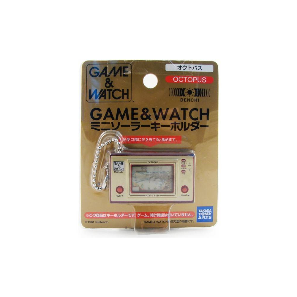 GAME AND WATCH MINI KEYCHAIN OCTOPUS