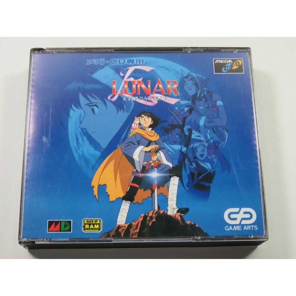 LUNAR ETERNAL BLUE SEGA MEGA CD NTSC-JPN (COMPLETE WITH WORLD MAP - SOUNDTRACK - GOOD CONDITION)