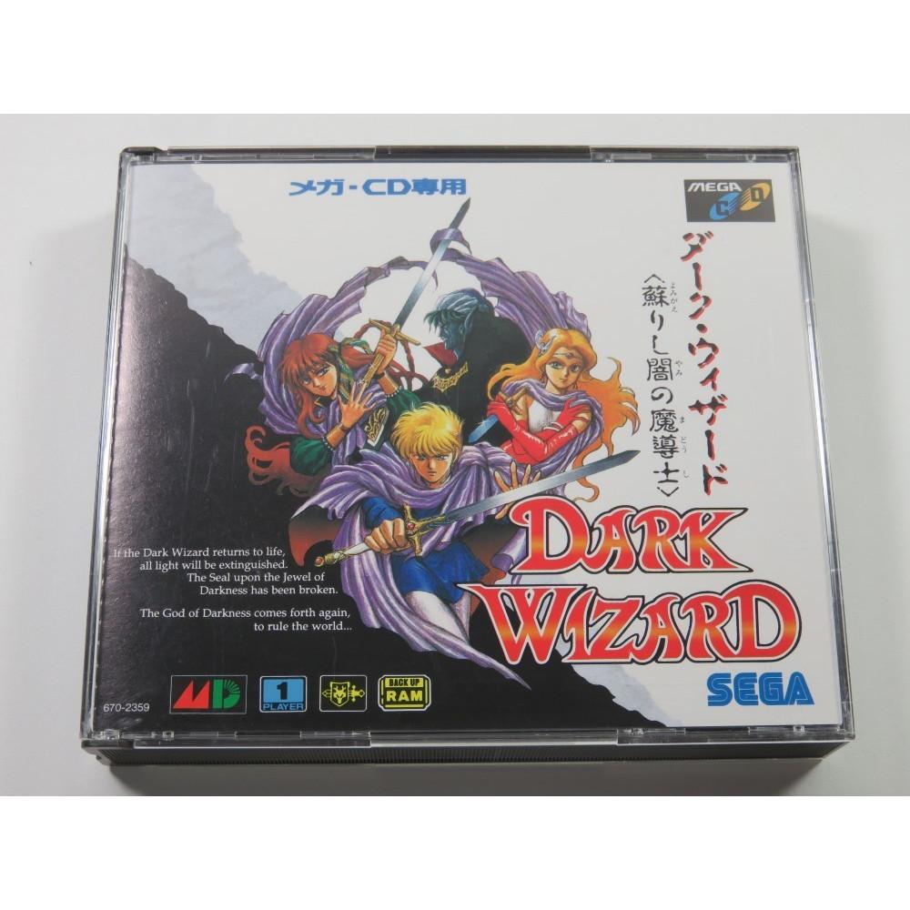 DARK WIZARD YOMIGAERISHI YAMI NO MADOUSHI SEGA MEGA-CD NTSC-JPN (COMPLETE WITH SPIN CARD AND REG CARD-GREAT CONDITION)