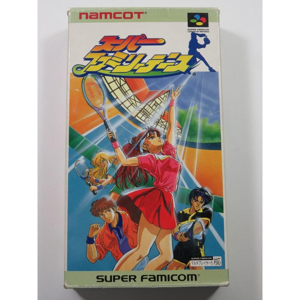 SUPER FAMILY TENNIS SUPER FAMICOM (SFC) NTSC-JPN (COMPLETE WITH REG CARD - GOOD CONDITION)