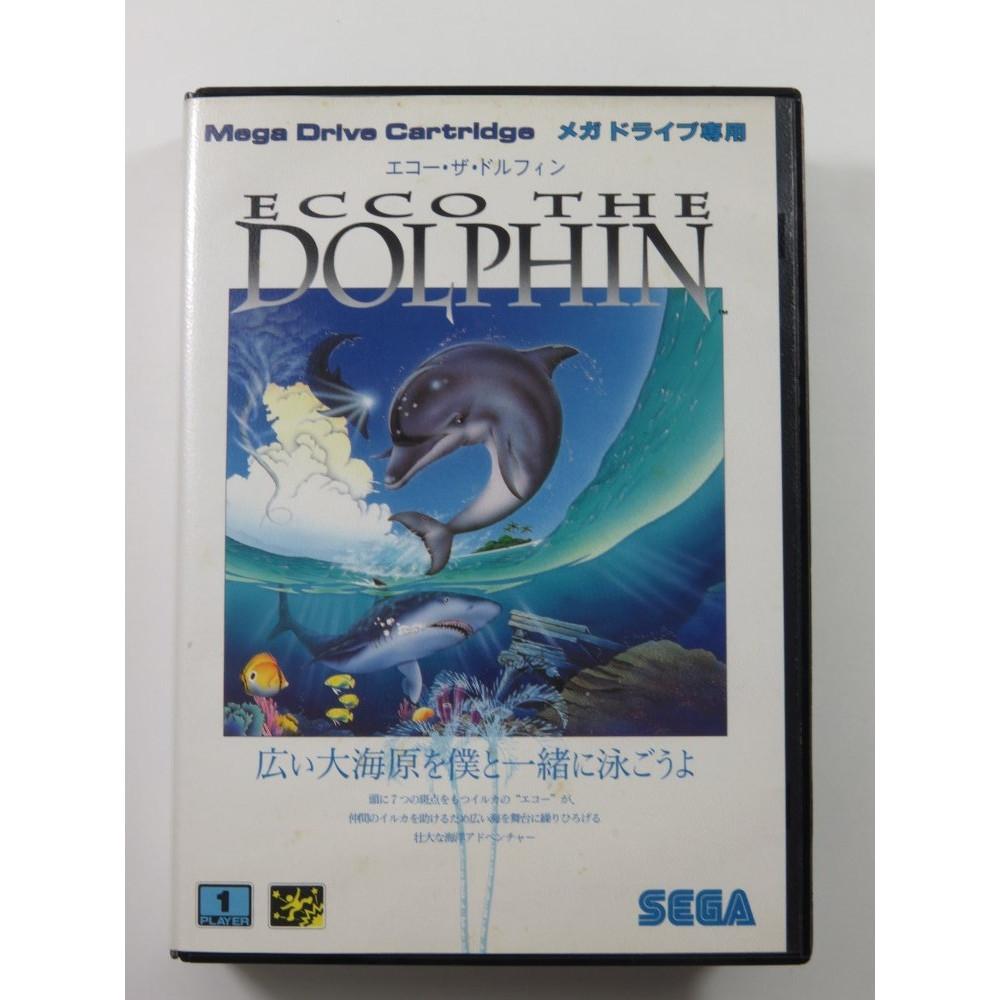ECCO THE DOLPHIN SEGA MEGADRIVE NTSC-JPN (COMPLETE - GOOD CONDITION)