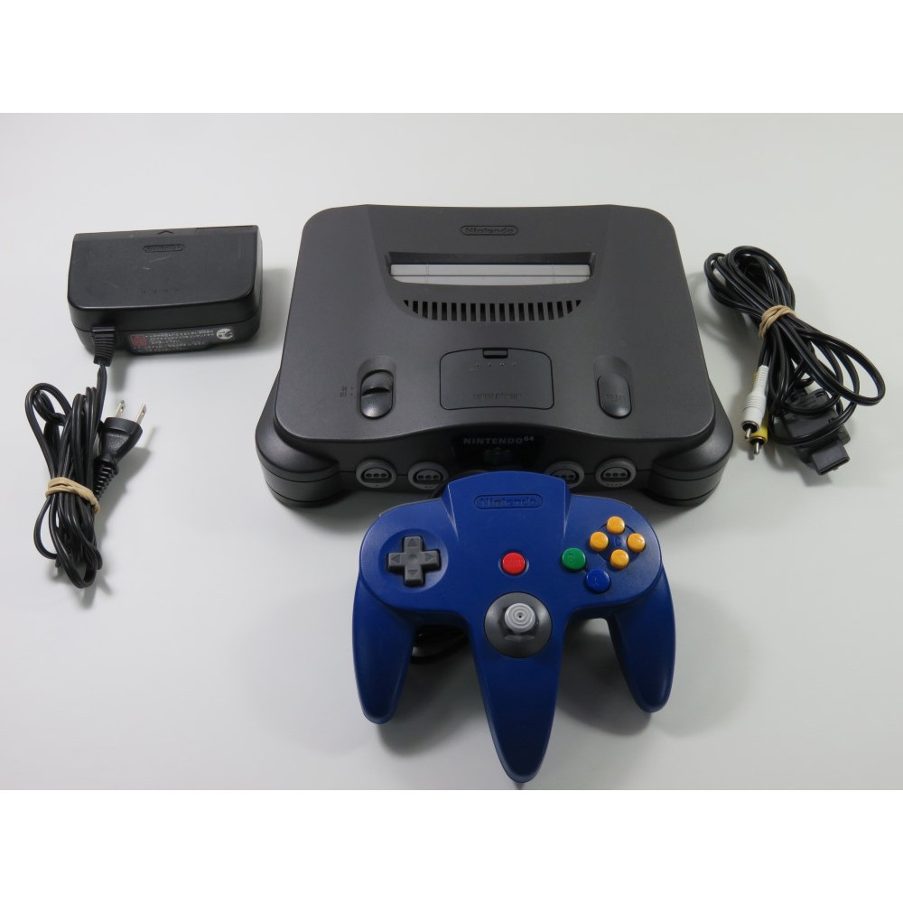 CONSOLE NINTENDO 64 GREY (N64) NUS-001 NTSC-JPN (WITHOUT BOX OR MANUAL - GOOD CONDITION) SERIALNUJ10637262