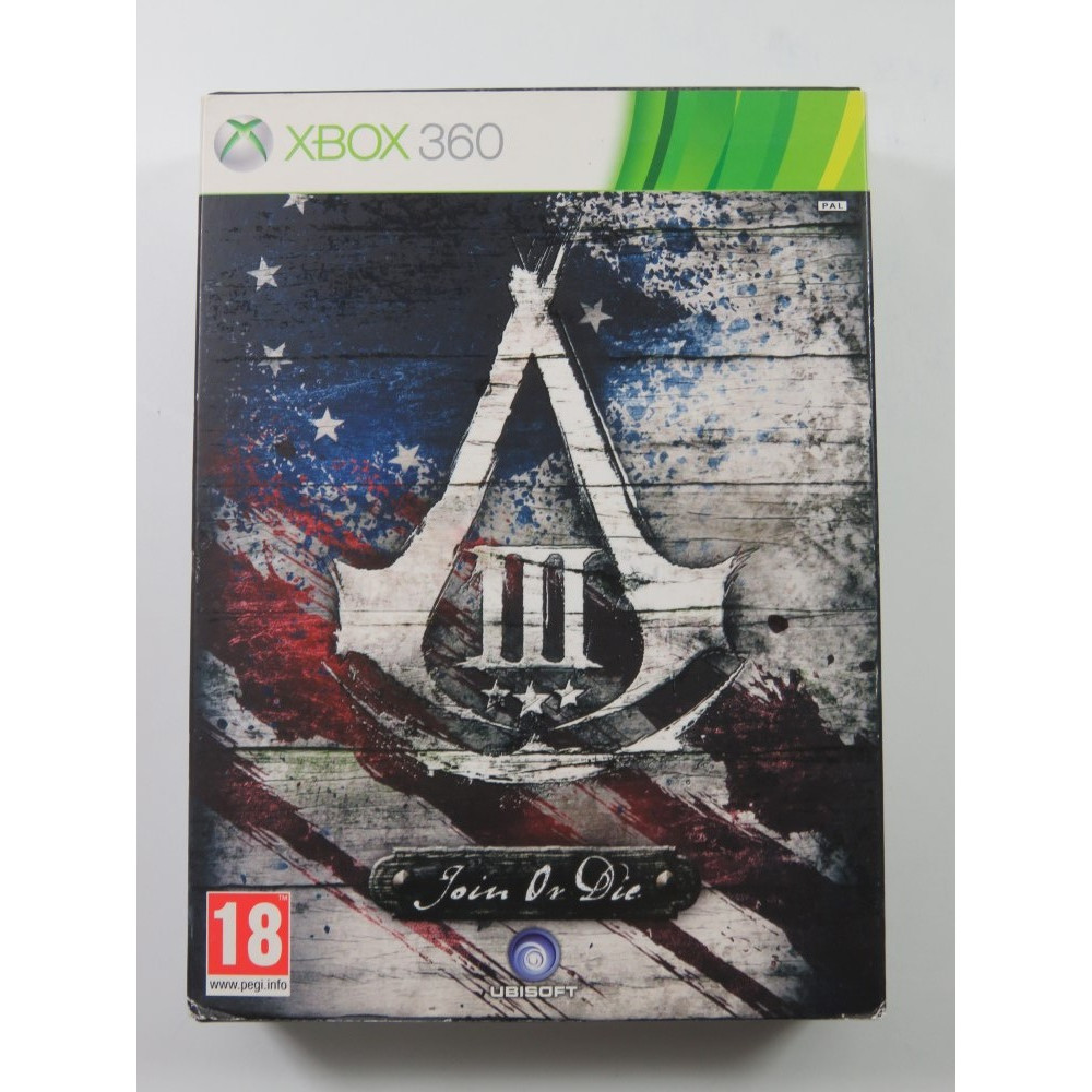 ASSASSIN S CREED III JOIN OR DIE XBOX 360 PAL-FR OCCASION