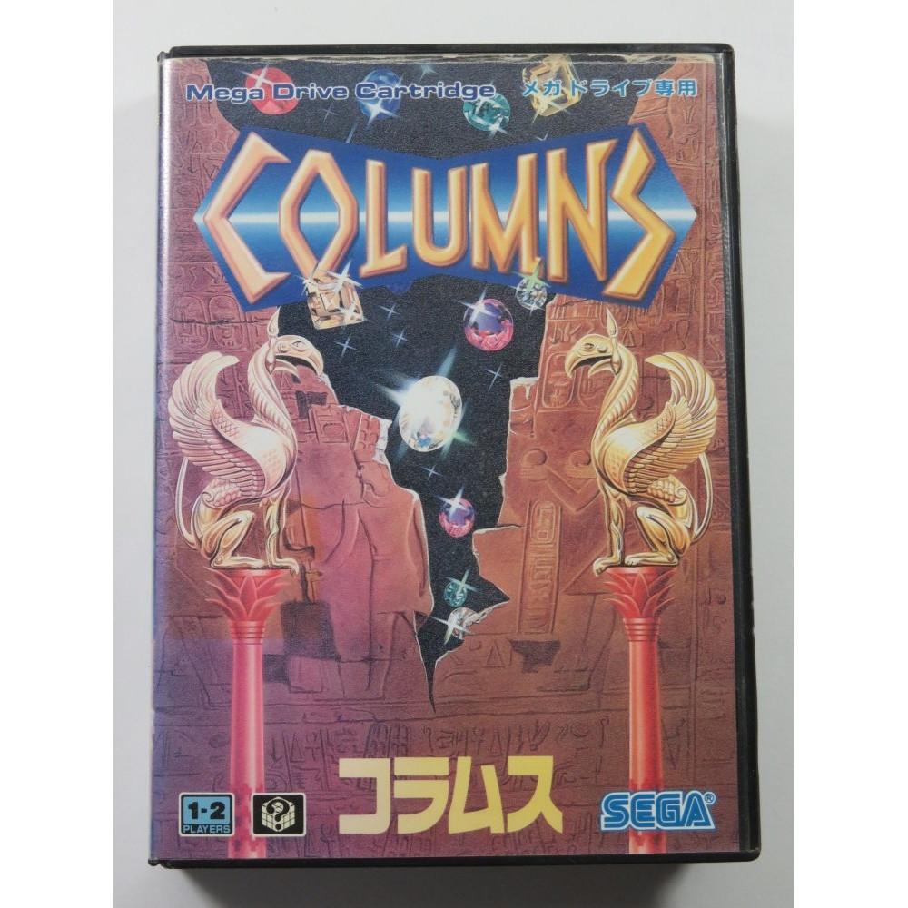 COLUMNS SEGA MEGADRIVE NTSC-JPN (COMPLETE - COVER DAMAGED AND SUNFADE)