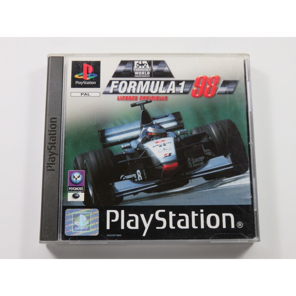 FORMULA 1 98 PLAYSTATION (PS1) PAL-FR (COMPLETE WITH STICKER - GOOD CONDITION)