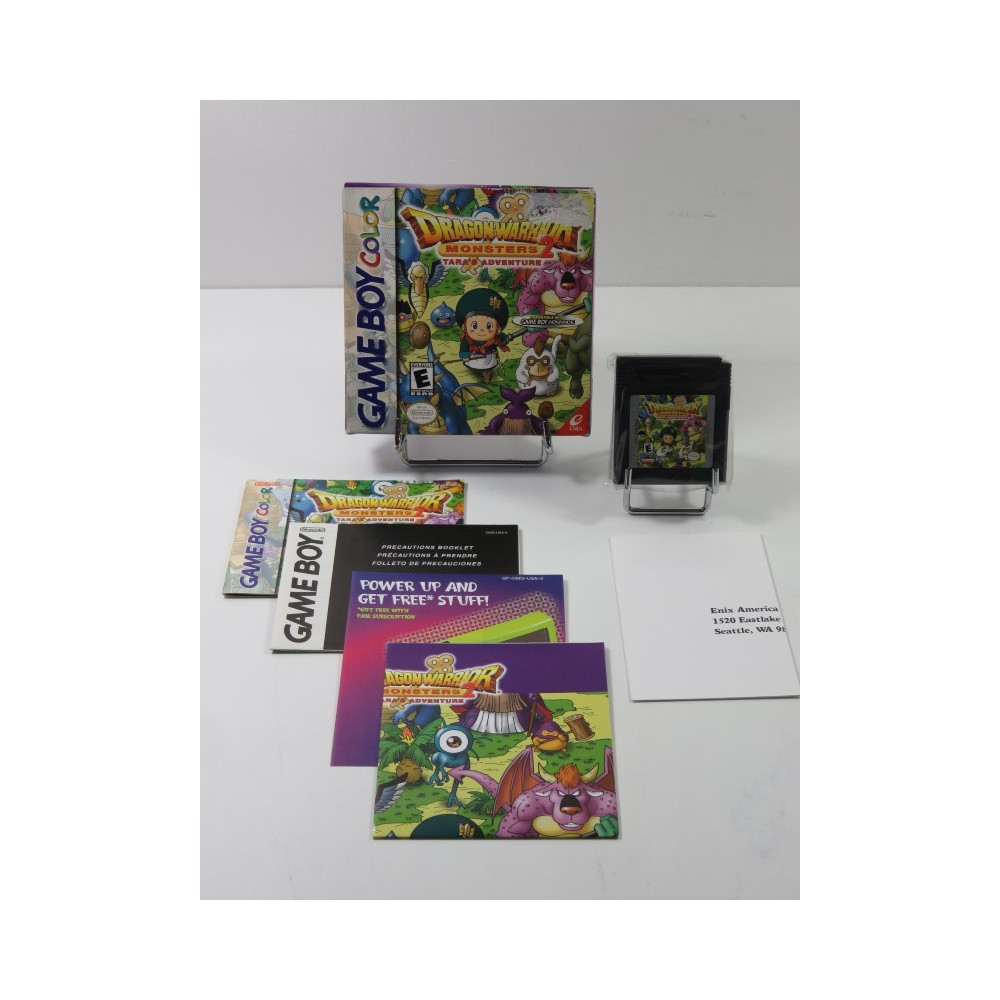 DRAGON WARRIOR MONSTERS 2 TARA S ADVENTURE GAMEBOY COLOR (GBC) USA (COMPLET - GOOD CONDITION)