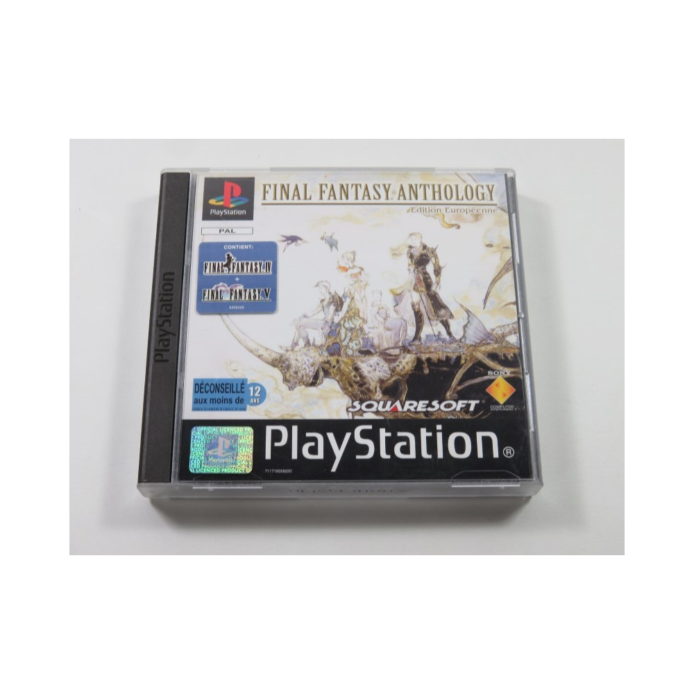 FINAL FANTASY ANTHOLOGY PLAYSTATION-PS1 PAL-EURO (COMPLETE - GOOD CONDITION) FFIV+FFV SQUARESOFT RPG