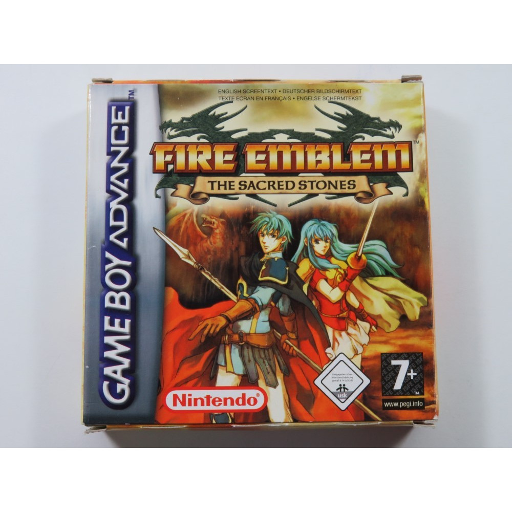 FIRE EMBLEM THE SACRED STONES NINTENDO GAMEBOY ADVANCE (GBA) NFHUG (COMPLETE - GOOD CONDITION)