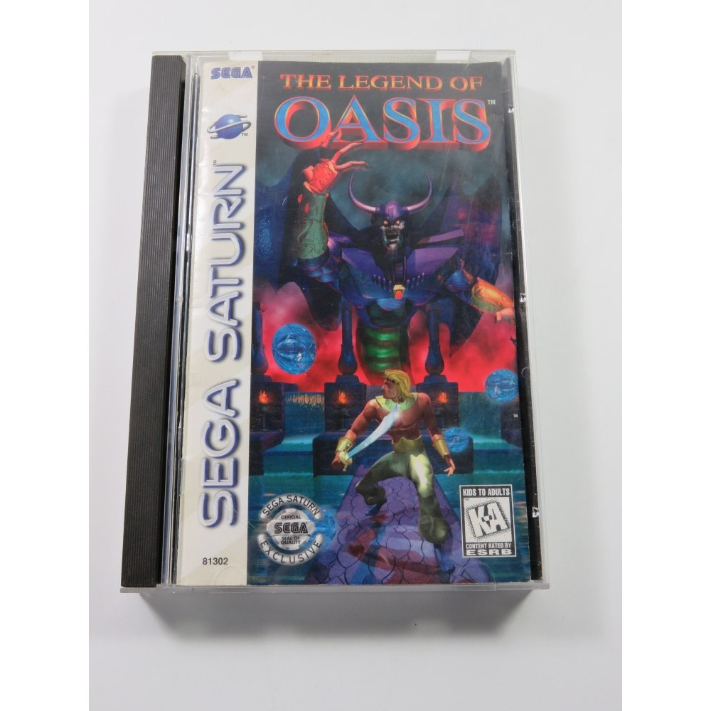 THE LEGEND OF OASIS SEGA SATURN NTSC-USA (COMPLETE - GOOD CONDITION)