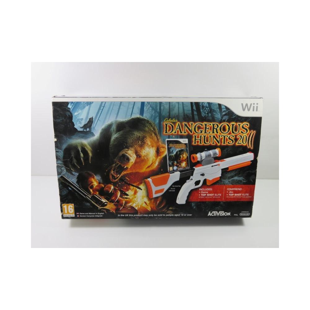 CABELA S DANGEROUS HUNTS 2011 (GAME + TOP SHOT ELITE RIFLE) WII PAL-EURO NEUF - BRAND NEW