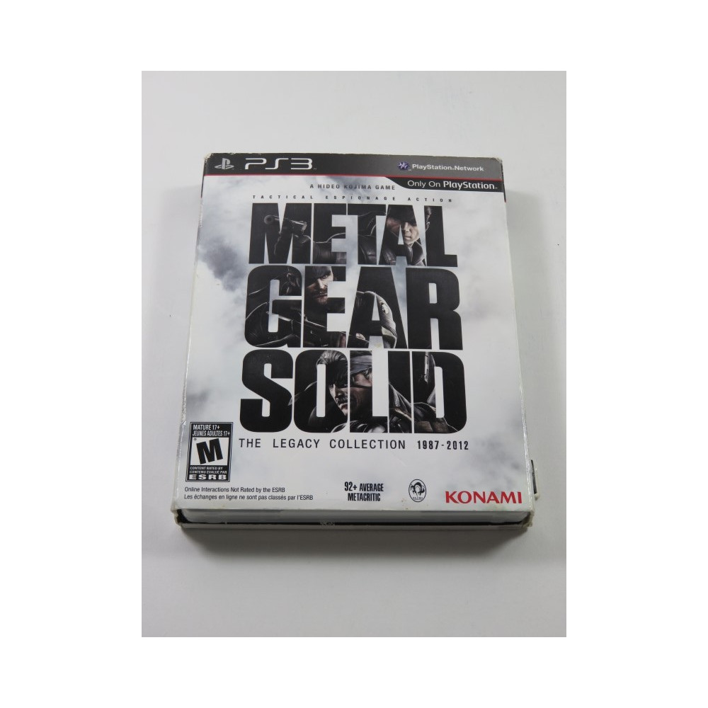 METAL GEAR SOLID THE LEGACY COLLECTION PS3 USA OCCASION (WITH ARTBOOK)