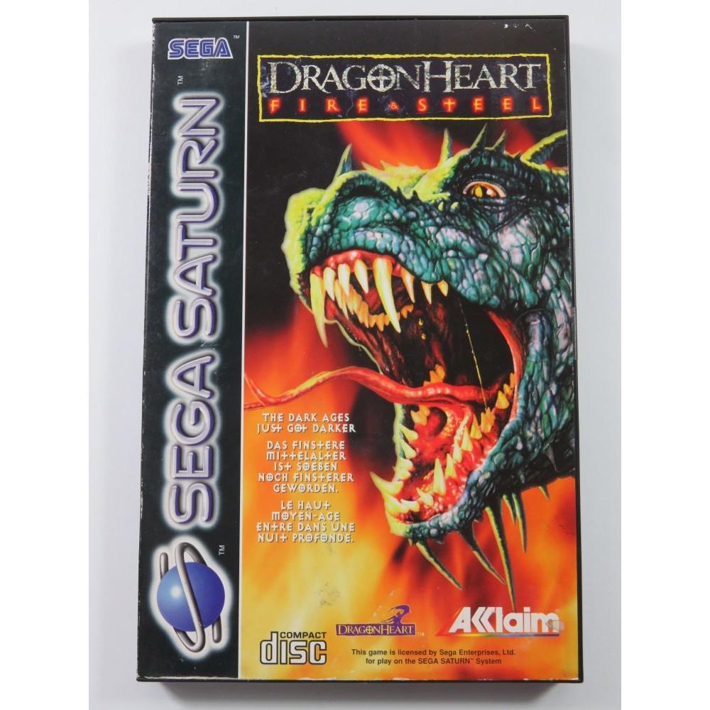 DRAGON HEART - FIRE & STEEL SEGA SATURN PAL-EURO (COMPLETE - GREAT CONDITION)
