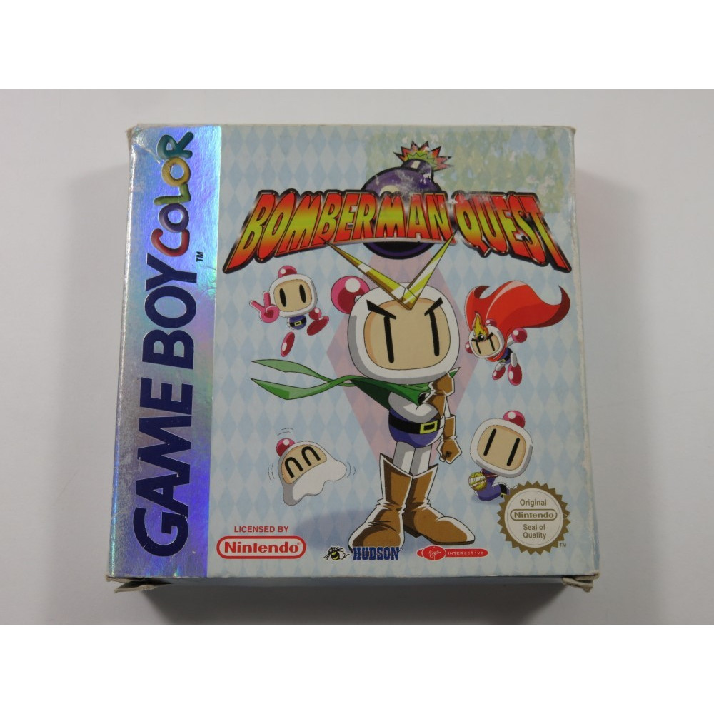 BOMBERMAN QUEST GAMEBOY COLOR (GBC) EUU (COMPLETE - GOOD CONDITION OVERALL)