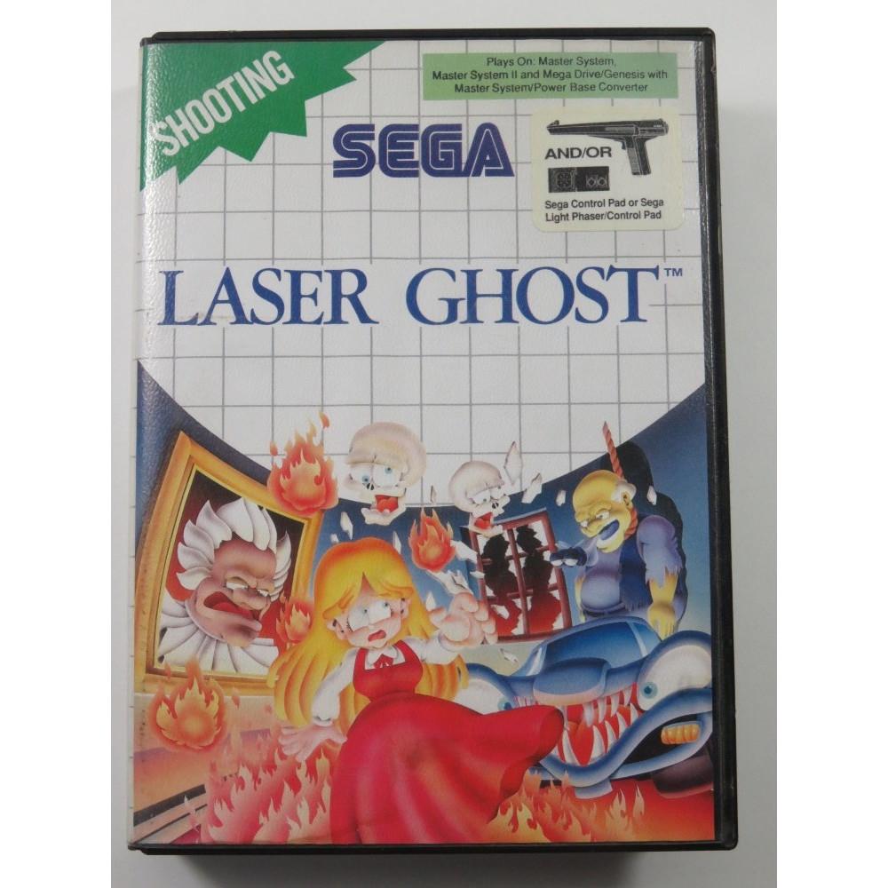 LASER GHOST SEGA MASTER SYSTEM (MS) PAL-EURO (COMPLETE - COVER SLIGHTLY DAMAGED)