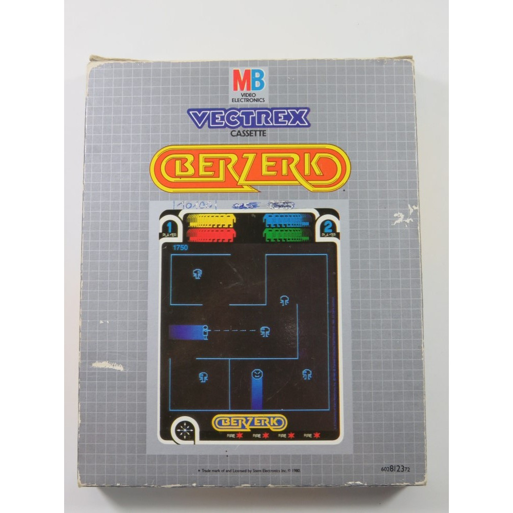 BERZERK VECTREX EURO (COMPLETE WITH MANUAL AND OVERLAY - GOOD CONDITION OVERALL)
