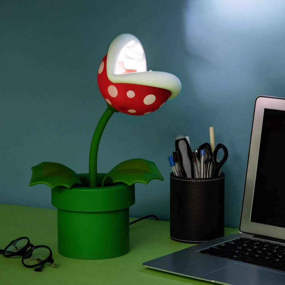 PIRANHA PLANT POSABLE LAMP SUPER MARIO NINTENDO PALADONE