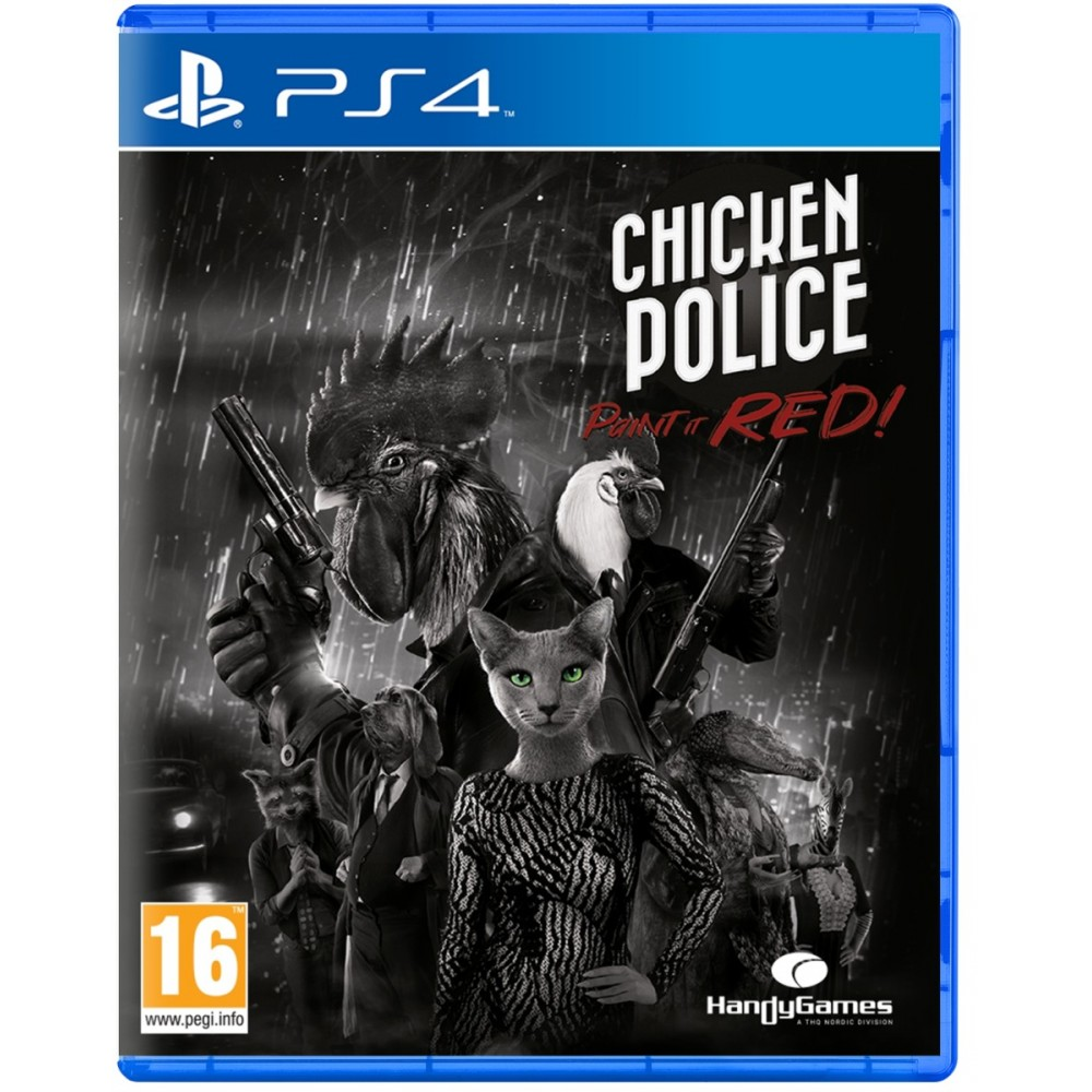 CHICKEN POLICE PAINY IT RED PS4 EURO NEW