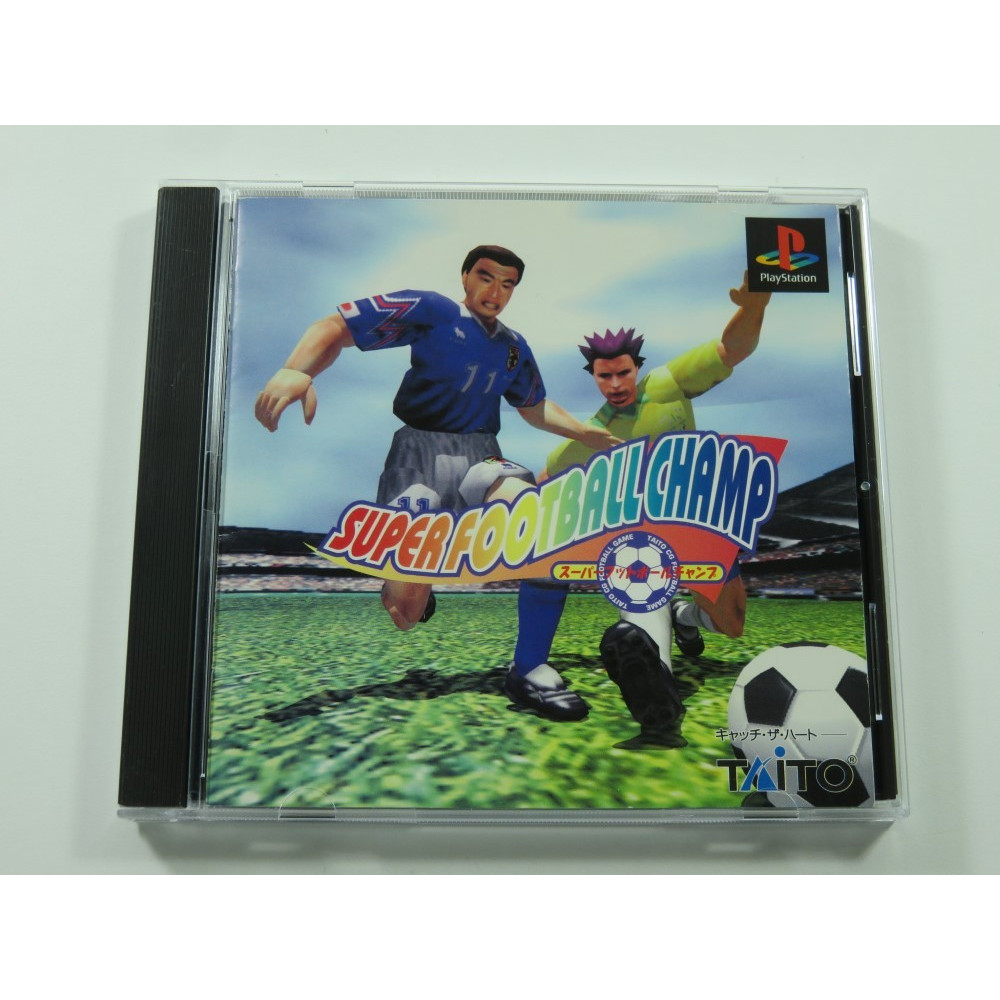 SUPER FOOTBALL CHAMP PLAYSTATION (PS1) NTSC-JPN (COMPLETE - GOOD CONDITION)