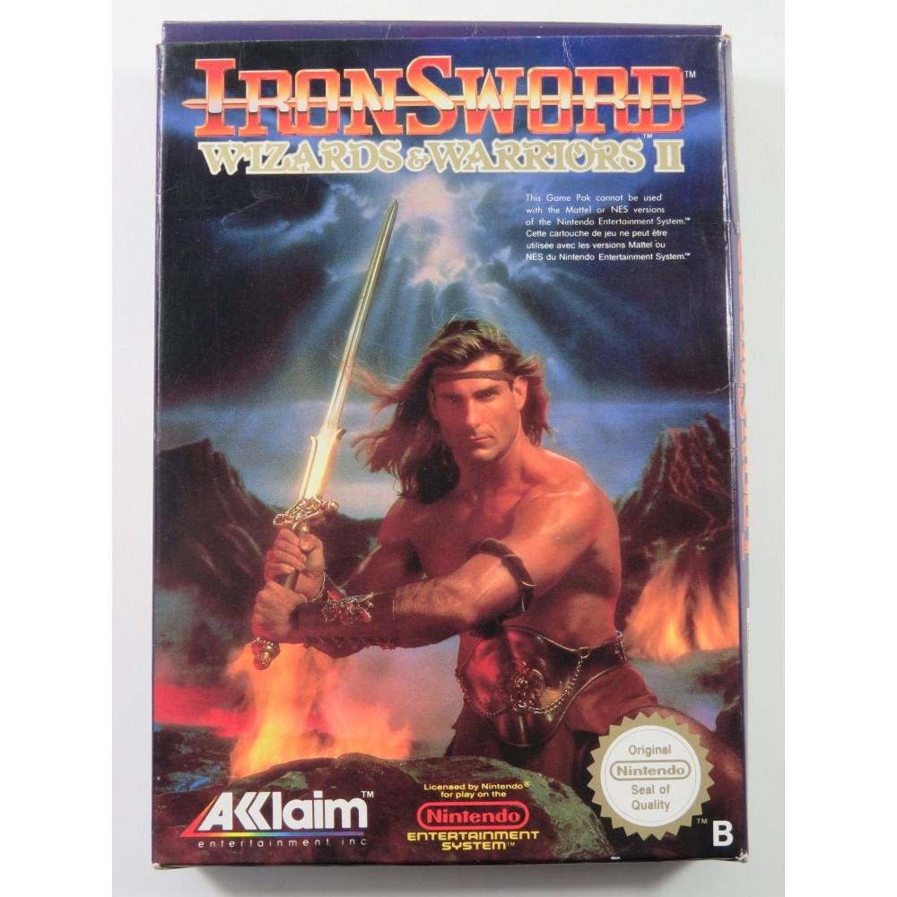 IRON SWORD : WIZARDS & WARRIORS II NES PAL-B (FRA) (COMPLETE - GOOD CONDITION)