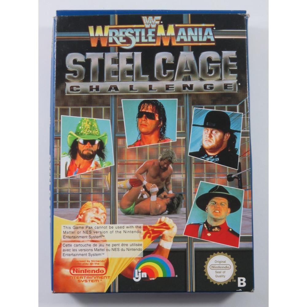 WWF WRESTLEMANIA STEEL CAGE CHALLENGE NINTENDO NES PAL-B FRA (COMPLETE - GOOD CONDITION)