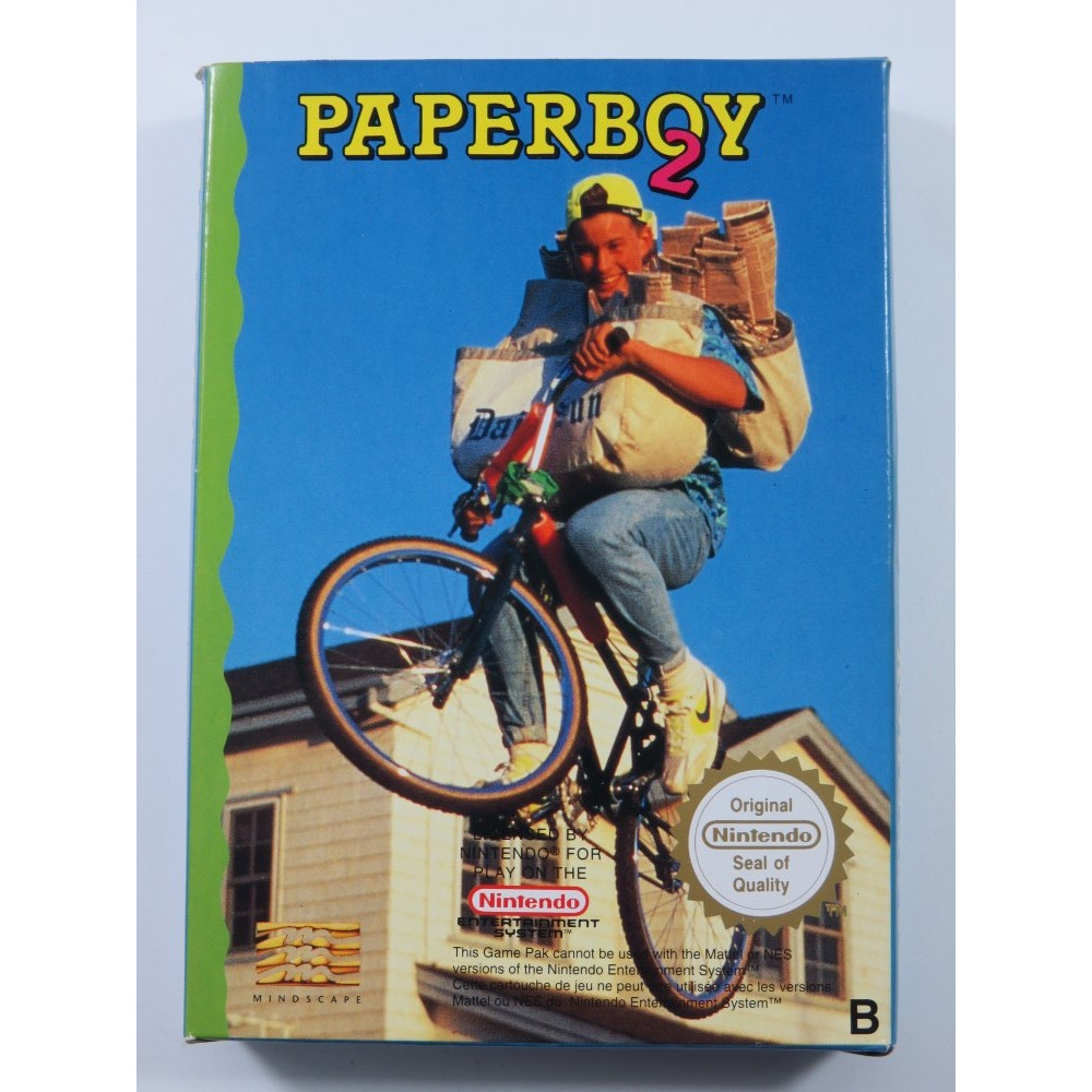 PAPERBOY 2 NINTENDO NES PAL-B FRA (COMPLETE - GREAT CONDITION)