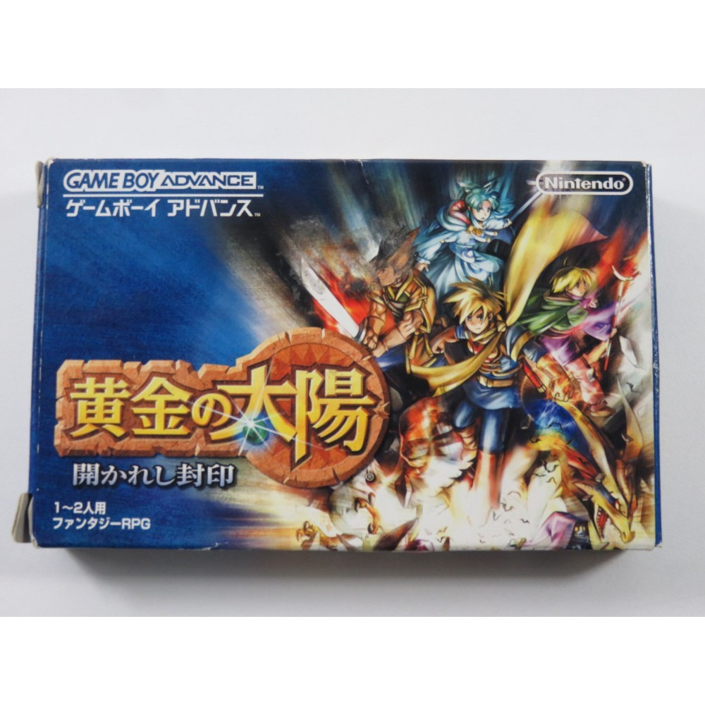 OUGON NO TAIYO HIRAKARESHI FUIN GAMEBOY ADVANCE (GBA) JAPAN (COMPLETE WITH WORLD MAP - GOOD CONDITION)