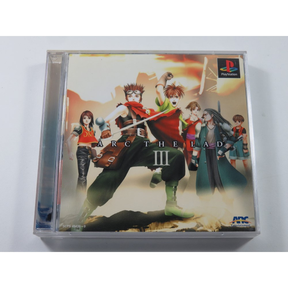 ARC THE LAD III PLAYSTATION (PS1) NTSC-JPN (ASIAN VERSION) - (COMPLETE - GOOD CONDITION)