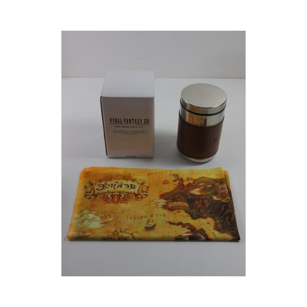 FINAL FANTASY XIV ONLINE TUMBLER - THERMO GOODIES (COMPLET - VERY GOOD CONDITION)(FROM THE COLLECTOR - WITH MAP)