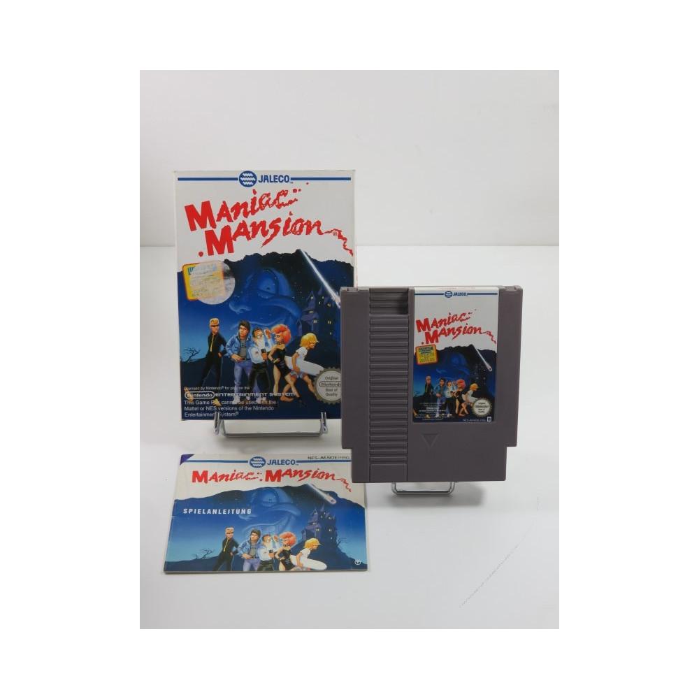 MANIAC MANSION NINTENDO (NES) PAL-FRG (COMPLET - GOOD CONDITION)(GERMAN TEXTS)