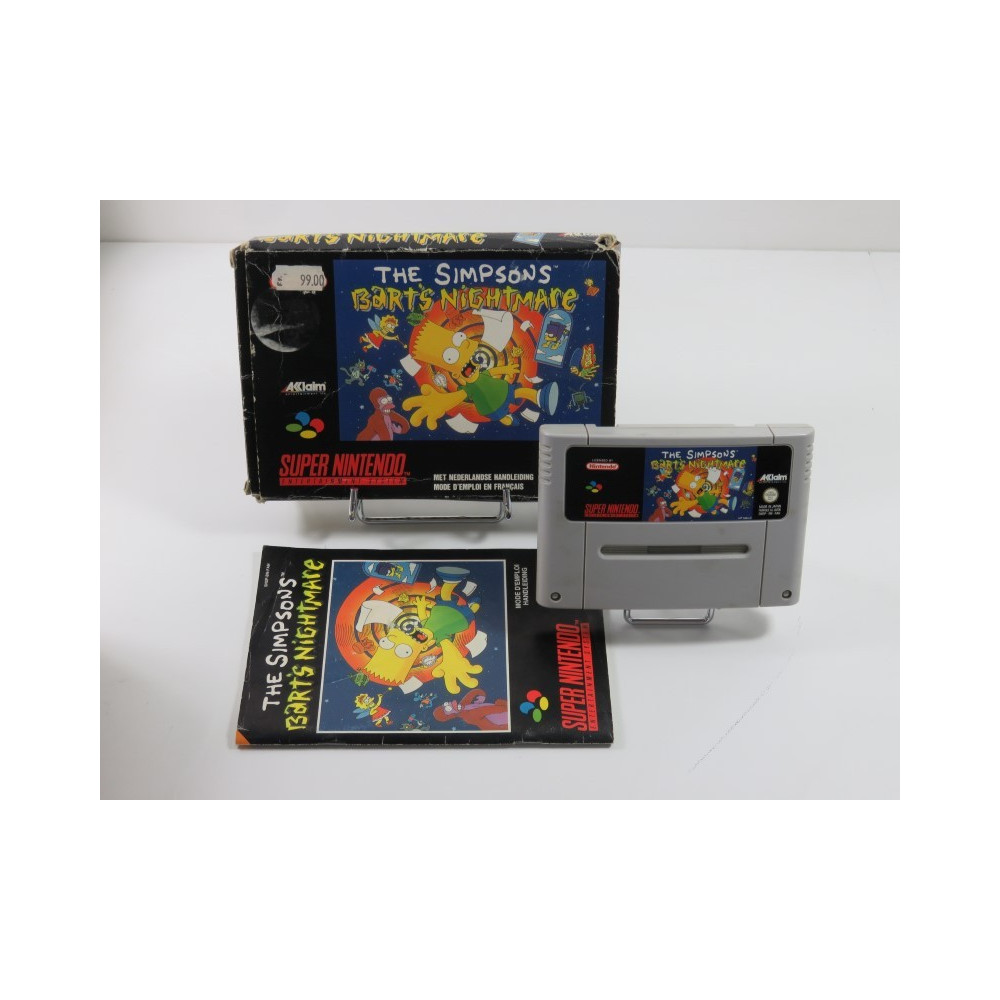 THE SIMPSON S BART S NIGHTMARE SUPER NINTENDO (SNES) PAL-FAH (COMPLET - GOOD CONDITION OVERALL)