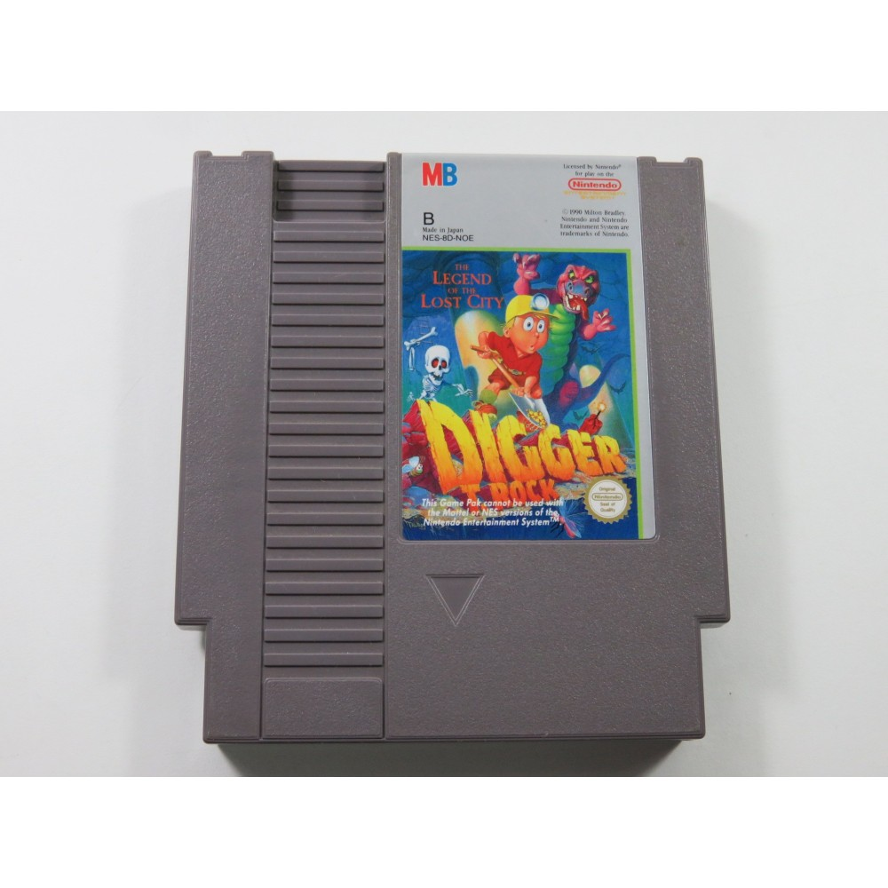 DIGGER THE LEGEND OF THE LOST CITY NINTENDO NES PAL-B NOE (CARTRIDGE ONLY - GOOD CONDITION)