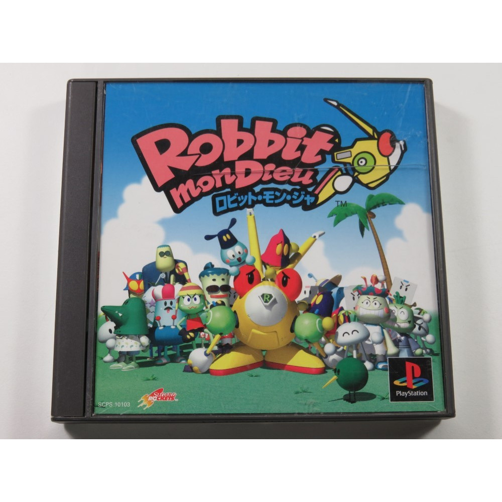 ROBBIT MON DIEU (JUMPING FLASH! 3)PLAYSTATION (PS1) NTSC-JPN (COMPLETE WITH SPIN CARD - GOOD CONDITION)