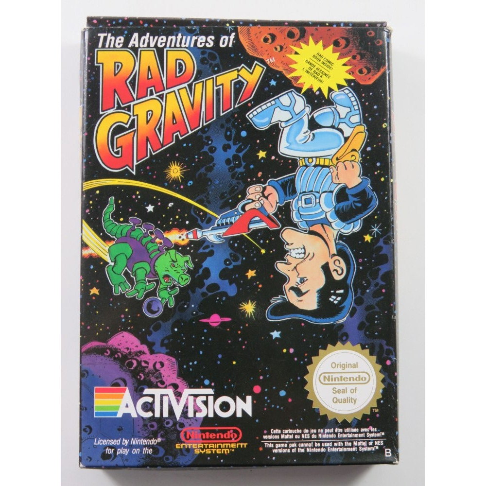 THE ADVENTURES OF RAD GRAVITY NINTENDO NES PAL-B FRA (COMPLETE - GOOD CONDITION)