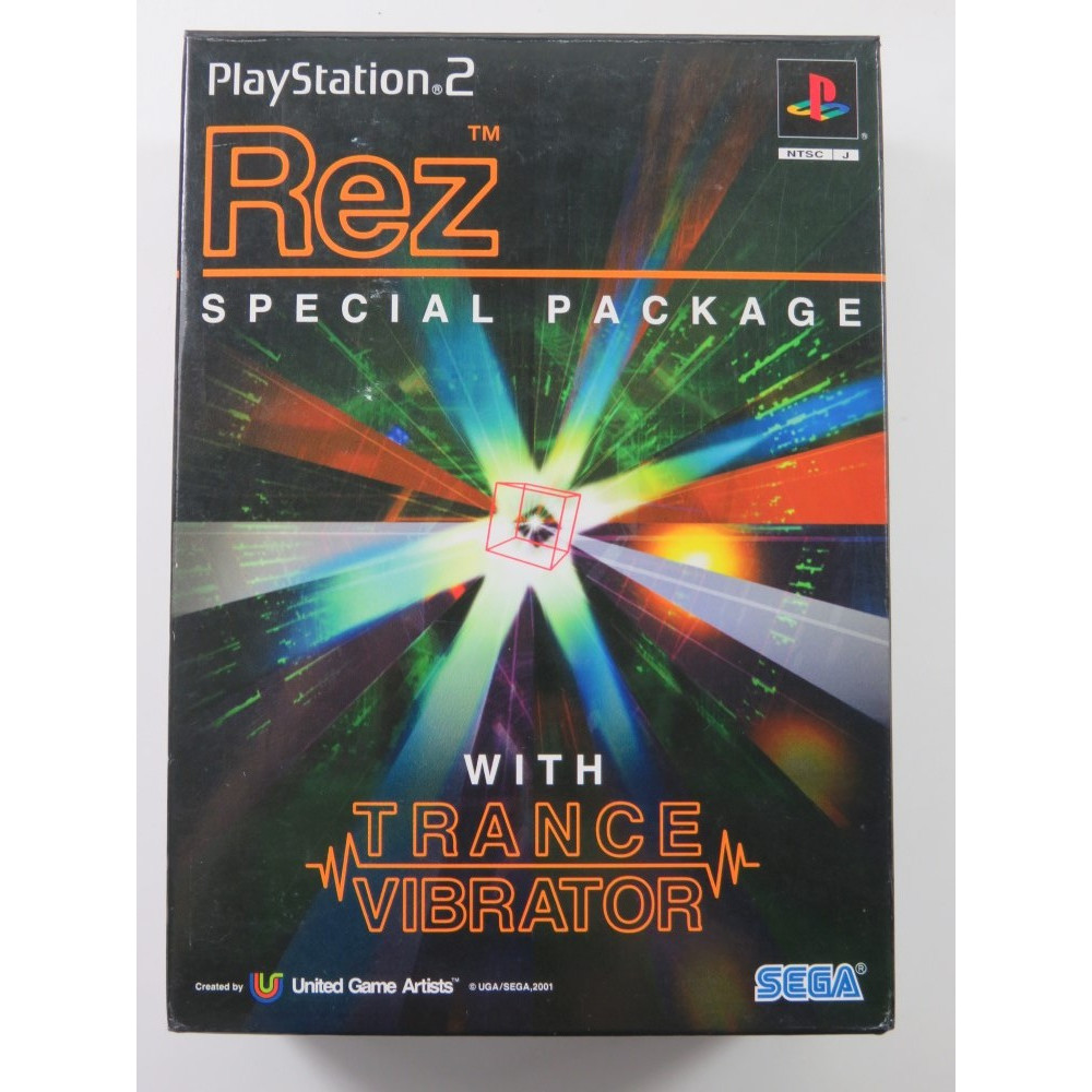 REZ SPECIAL PACKAGE WITH TRANCE VIBRATOR PLAYSTATION 2 (PS2) NTSC-JPN (COMPLETE - GREAT CONDITION)