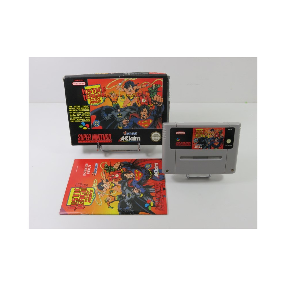 JUSTICE LEAGUE TASK FORCE SUPER NINTENDO (SNES) PAL-EUR (COMPLET - GOOD CONDITION)(WITHOUT POSTER)