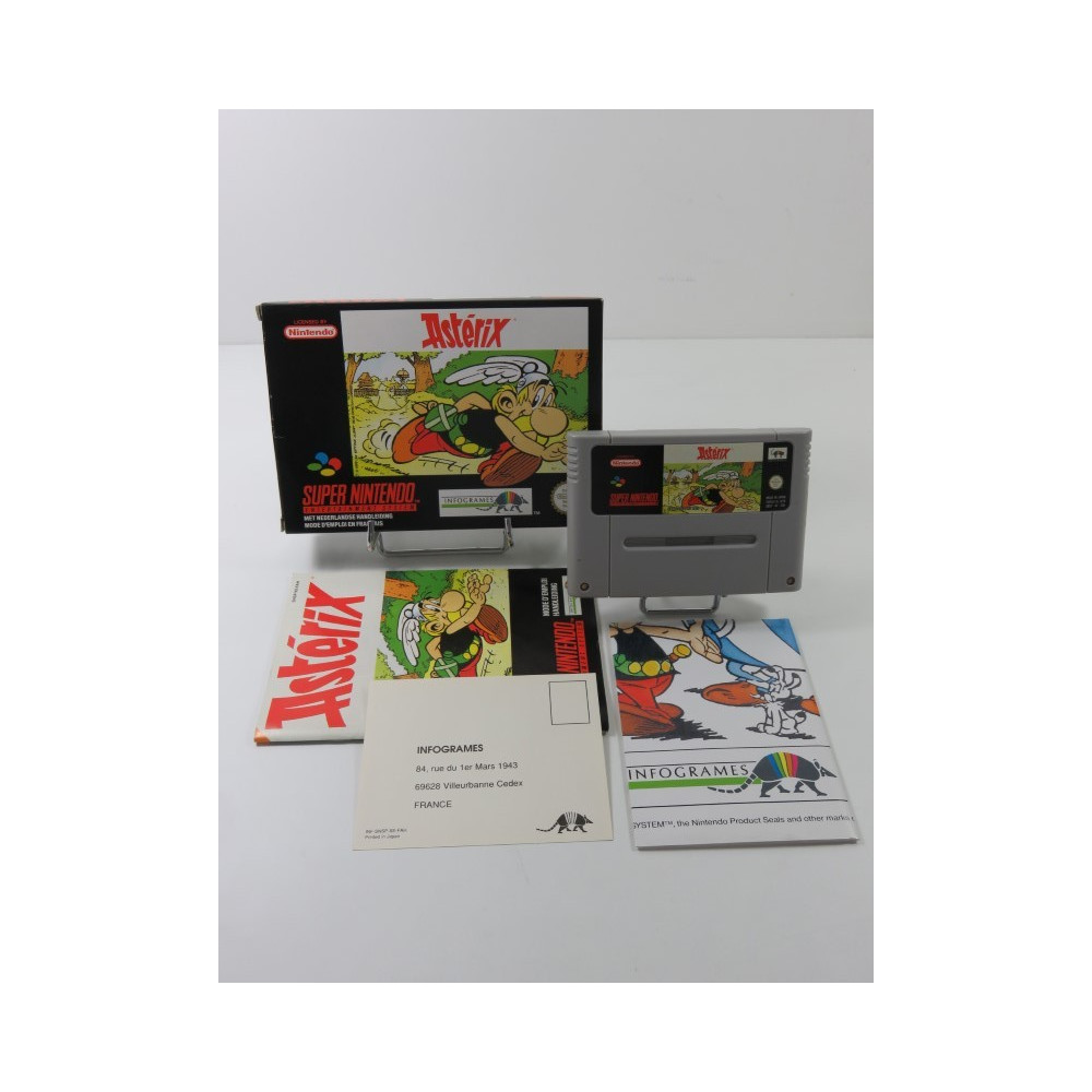 ASTERIX SUPER NINTENDO (SNES) PAL-FAH-3 (COMPLET - GOOD CONDITION - WITH POSTER)