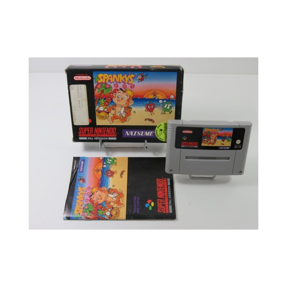 SPANKY S QUEST SUPER NINTENDO (SNES) PAL-FRG (COMPLET - GOOD CONDITION OVERALL)