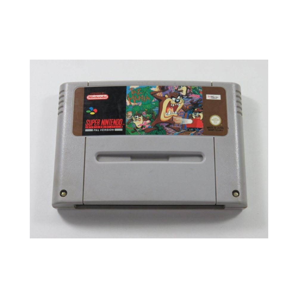 TAZ MANIA SUPER NINTENDO (SNES) PAL-UKV (CARTRIDGE ONLY - GOOD CONDITION OVERALL)